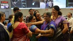 These women are the scientists at the Indian Space Research Organization in Bangalore. They are celebrating after their Mars Oribiter successfully entered the Mars orbit. This is the first craft from anywhere in Asia.