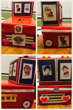 Paw patrol firetruck valentine box 2015