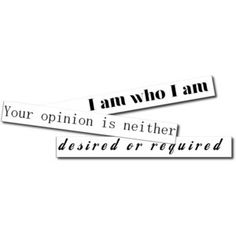 i am who i am | August 6th, 2011 | Tags: who i am | Category: Be Yourself