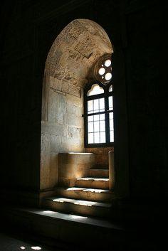 Ancient Window at Castle del Monte, Andria, Italy