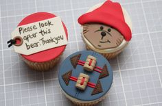 tutorial: paddington bear cupcakes