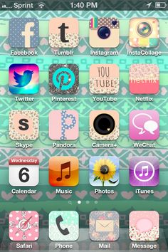 How to customize apps without jail breaking your iPhone! (Kim's phone) download app called cocoppa. (: