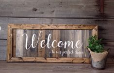 Welcome to our perfect chaos, Family sign, farmhouse wall decor, welcome sign for the home, farmhous