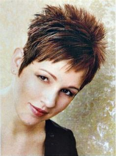short spiky hairstyles for women ;~}