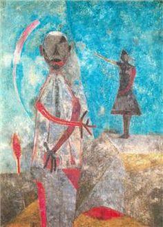Rufino Tamayo- Autorretrato 1967, Óleo sobre tela 175 x125 cm.  Museo de Arte Moderno MAM, Mexico D.F., Mexico