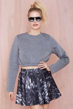 Nasty Gal Jolt Skater Skirt - Skirts |