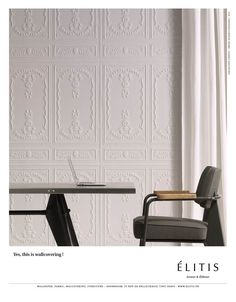 Wallcovering: Perfecto - Chance collection    http://www.elitis.fr/en/revetements-muraux/