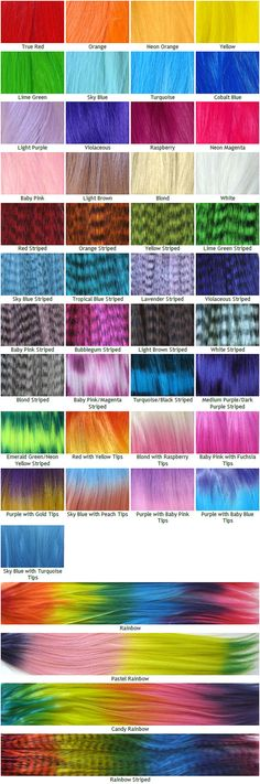Rainbow Hair Extensions - Prebonded I-Tip - Pack of 10 - Solid, Striped, Grizzly, Rainbow, Ombre, and Dip Dye - You Choose Colors