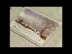 Frank Clarke Simply Painting Snow Scene Part 1 - YouTube