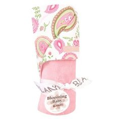 Trend Lab Pink Paisley Park Velour Blanket