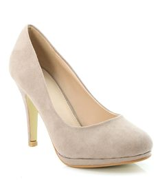 Loving this Bella Marie Taupe Nine Pump on #zulily! #zulilyfinds