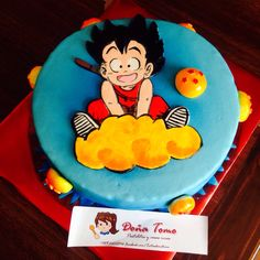 Dragonball cake! I made it with fondant Search for Doña Tomo on Facebook Ball Birthday Parties, First Birthday Cakes, Dragonball Z Cake, Anime Cake, Birthday Present For Boyfriend, Happy Birthday My Love, Cupcakes, Holiday Cakes, Cakes For Boys