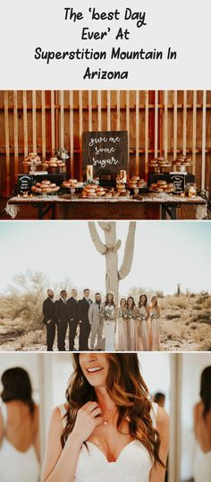 The 'Best Day Ever' at Superstition Mountain in Arizona - Tremaine Ranch. A Bride and Her Bridesmaids at a Desert Wedding. #dreamwedding #arizonawedding #GreenBridesmaidDresses #OrangeBridesmaidDresses #BridesmaidDressesSequin #BridesmaidDressesTwoPiece #BridesmaidDressesVintage