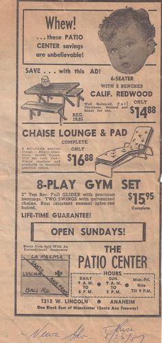 Anaheim Patio U0026 Fireside Was Originally Called Patio Center. Hereu0027s One Of  Our Ads From