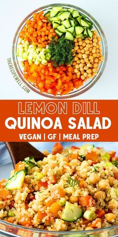Quinoa chickpea salad with lemon dill dressing - #chickpea #dressing #lemon #quinoa #salad - #ItalianDinnerRecipes