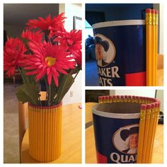 DIY Pencil Vase-perfect for a gift for teacher