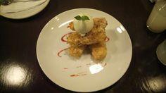 Crocantes bananos tempura... @restauranteOsaki