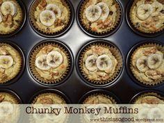 Muffins Monkey chunky (Cereale / Gluten-free) | Aceasta este atât de bun ...