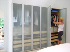 If you are one of those people that throw their clothes on the ground or leave them in a pile on the bed, then you will benefit from IKEA closet organizers. Ikea Closet Organizer, Closet Organization, Ikea Storage, Closet Storage, Wardrobe Storage, Kids Bedroom Paint, Bedroom Decor, Ikea Wardrobe, Master Bedroom Closet