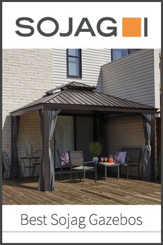 Here we take a look at some of our favourite hard Gazebo Roof, Pergola, Hardtop Gazebo, One Room Apartment, Polycarbonate Panels, Four Corners, Summer Sun, Shelter, Summertime