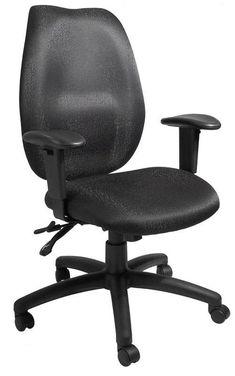 Boss Office Products B1002-SS-BK Boss Black High Back Task Chair W/ Seat Slider