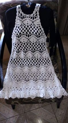 Crochet dress cover up fashion Ideas Crochet Beach Dress, Crochet Girls, Crochet Blouse, Crochet For Kids, Diy Crochet, Crochet Summer, Filet Crochet, Crochet Stitches, Crochet Patterns