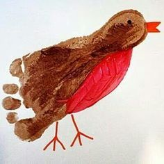 Footprint robin. Made this today with the kiddos!