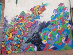 Abstraction Auteur de l'oeuvre KOOL KOOR + SAN1 Date de l'oeuvre 2013 Boulevard de l'Usine et Rue de l'Eglise Saint-Louis Quartier Fives