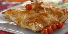Tarta de salmón con crema de almendras