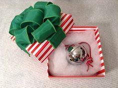 Polar Sleigh Bell in Hand Folded Origami Box Express From Elf Works Lane -- Click image to review more details.