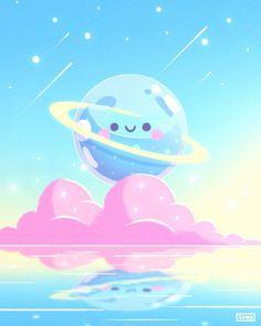 Kawaii Doodles, Kawaii Chibi, Kawaii Art, Cute Animal Drawings Kawaii, Cute Cartoon Drawings, Japon Illustration, Cute Illustration, Kawaii Wallpaper, Galaxy Wallpaper