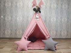 READY TO SHIP! Teepee, Play tent, Wigwam, Playhouse, Kids Wigwam, Tipi Tent, Kids Teepee, Childrens Teepee,  Play Teepee Kids Wigwam, Kids Tents, Teepee Kids, Teepees, Baby Teepee, Teepee Play Tent, Baby Pillows, Soft Pillows, Tipi