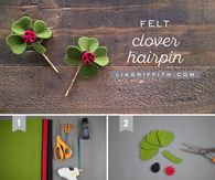 DIY Felt Clover Hair Pin Curls No Heat, Children Pictures, Tumblr Image, Facebook Image, Felt Diy, Pictures Images, Hair Pins, Twitter, Quotes