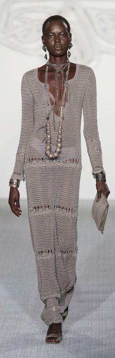 Daks at London Fashion Week Spring 2017 - Crochet Dress
