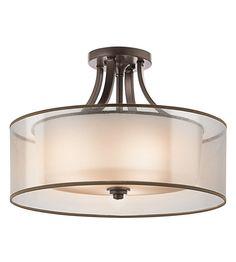 """Kichler Lighting Lacey 4 Light Semi-Flush in Antique Pewter 42387AP #lightingnewyork #lny #lighting   20"""" diameter - bedroom or foyer"""