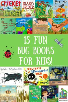 Introduce kids to all of the bugs, insects and creepy crawlies of summer with these fun bug books! #sponsored #kidsbooks #readaloud #booksaboutbugs