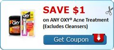 New #Coupon!  SAVE $1.00 on ANY OXY® Acne Treatment (Excludes Cleansers)! - http://www.stacyssavings.com/new-coupon-save-1-00-on-any-oxy-acne-treatment-excludes-cleansers/