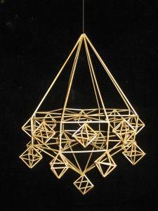 Himmeli, kahdeksankulmainen Marimekko, Korn, Diy And Crafts, Chandelier, Ceiling Lights, Christmas, Inspiration, Finland, Hobbies