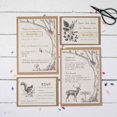 Are you interested in our rustic wedding invitations? With our woodland wedding invitations you need look no further.