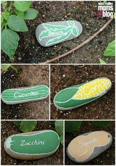 planteskilte malede sten