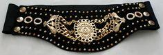 Black vintage waist belt