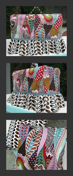 Sewing Machine Cover and Pillows by BGMom1, via Flickr, no tutorial, however. I think I can duplicate this cover.