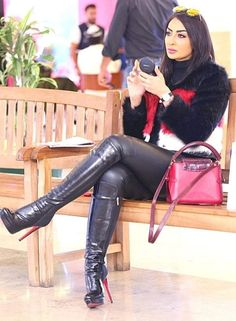 Leather Tights, Black Leather Gloves, Thigh High Boots Heels, Stiletto Boots, Sexy Boots, Black Boots, Dominatrix, Girls, Blog