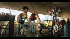 Pixar-styled Tony Stark
