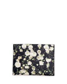 { mens givenchy floral print card case }