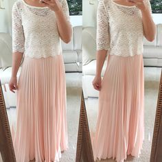 Pink Pleated Maxi Skirt | Seasons, Pink and Maxis