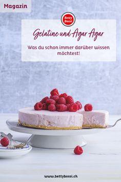 Wir erklären dir in dem Beitrag was der Unterschied ist, auf was du dabei achten musst bei der Anwendung und tolle Rezepte für die Anwendung von Gelatine oder Agar Agar! Agar, Gelatine, Cheesecake, Desserts, Food, Vegan Baking, Tailgate Desserts, Deserts, Cheesecakes