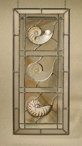 beach decor tri-cut stained glass