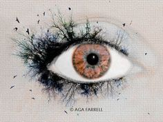 Eye Print Nature Art Brown Eye Photography Brown by AgaFarrell