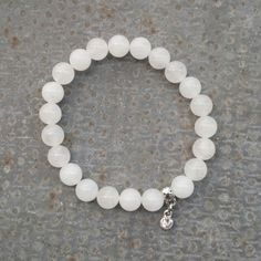 Meditation  snow quartz bracelet by CityZenCharms on Etsy, $15.00